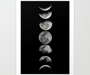 art, art print, and black image