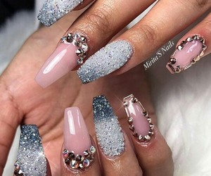bedazzled, chic, and nails image