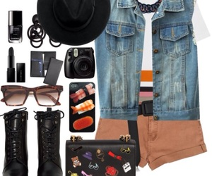 camera, chanel, and combat boots image