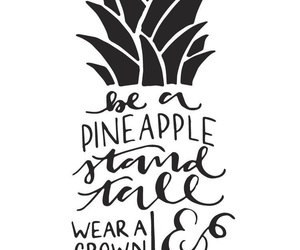 beautiful, pineapple, and text image