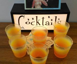 cocktail glasses, etsy, and mid century modern image