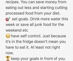 food, goals, and health image