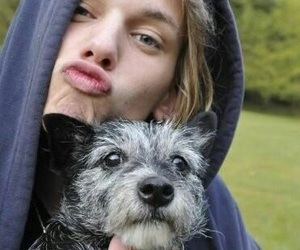 Jamie Campbell Bower, dog, and jamie image