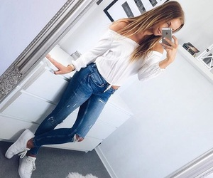 clothes, long hair, and fashion image