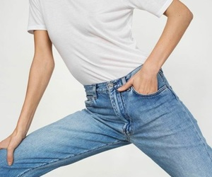 fashion, jeans, and minimal image