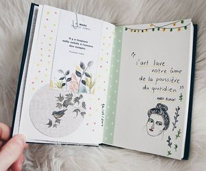 diary, doodle, and flowers image