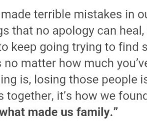 apology, family, and happiness image