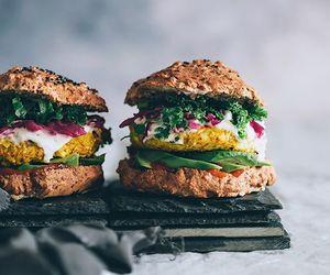 avocado, vegetarian, and burger image