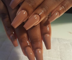 nails, makeup, and Nude image