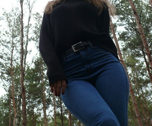 black, forest, and jeans image