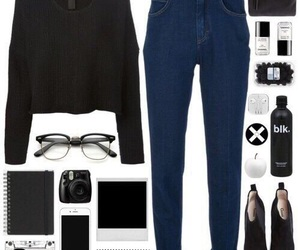 fashion, clothes, and glasses image