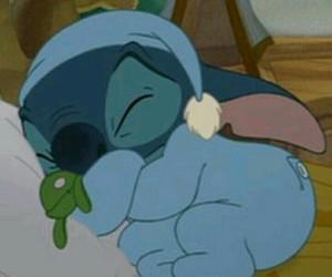 stitch, disney, and sleep image