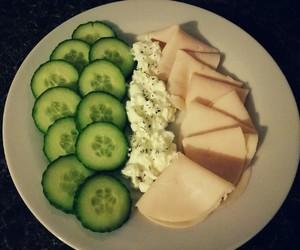 cucumber, fit, and ham image