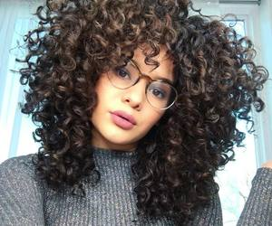 brunette, curles, and curly image