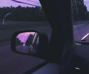 car, purple, and rain image
