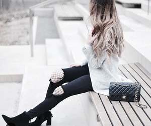 fashion, fish nets, and goals image