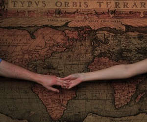 aesthetic, hands, and map image