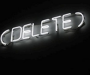 delete, light, and neon image