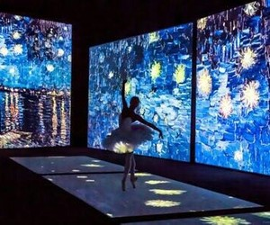 art, ballet, and van gogh image