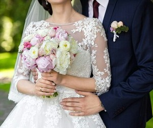bouquet, cousin, and wedding image