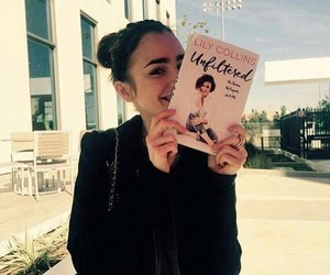 lily collins, book, and unfiltered image