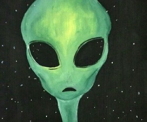 aesthetic, grunge, and alien image