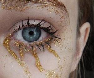 glitter, eyes, and blue image