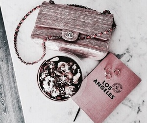pink, chanel, and food image