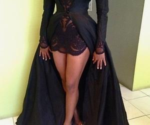 lace dress, slay, and black image