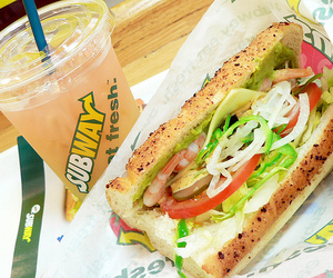subway, food, and sandwich image