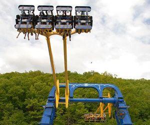 amusement park, swing ride, and Bristol image