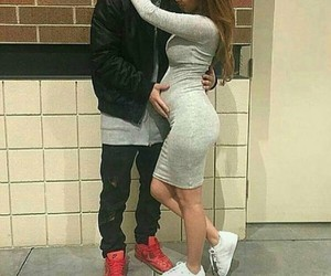 couple, pregnant, and goals image