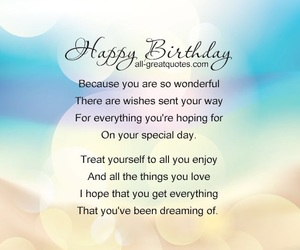 birthday, happy, and message image