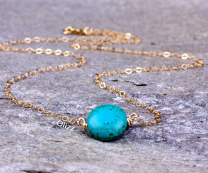 etsy, turquoise jewelry, and silver necklace image