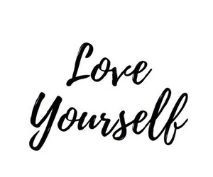 quotes, love yourself, and black image