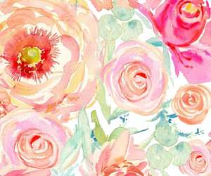 flowers, watercolor, and wallpaper image