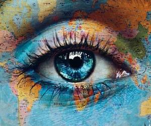 blue, eye, and world image