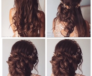 hair, Prom, and up-do image