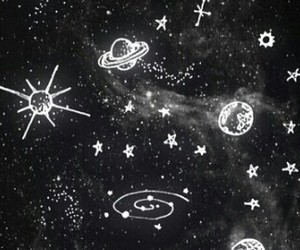 space, black, and grunge image