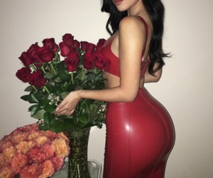clothing, flowers, and leather image