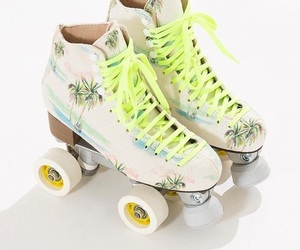 green, rollerblades, and white image
