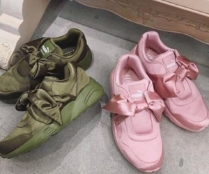 green, pink, and puma image