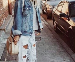 casual, glasses, and denim image