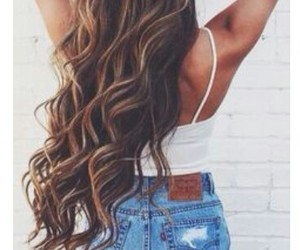 hair, style, and long hair image