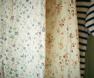 vintage, floral, and fashion image