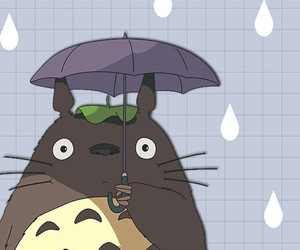 studio ghibli and totoro image