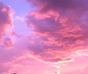 pink, sky, and wallpaper image