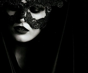 mask, black, and black and white image