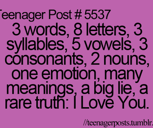 I Love You, quote, and cute image