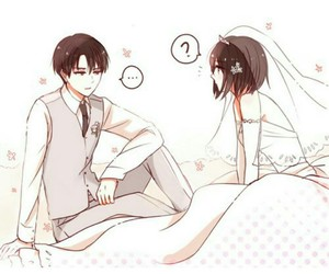 anime, couple, and snk image